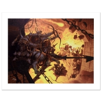 """""""The Siege Of Minas Tirith"""" Limited Edition 28x21 Giclee on Canvas by The Brothers Hildebrandt at PristineAuction.com"""