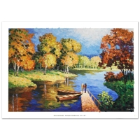 """Alexander Antanenka Signed """"Romantic Rendezvous"""" Limited Edition Hand Embellished 36x24 Giclee on Canvas"""