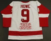 "Gordie Howe Signed Red Wings Stat Jersey Inscribed ""Mr. Hockey"" & ""HOF 1972"" (Howe Hologram & PSA COA) at PristineAuction.com"