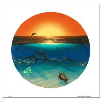 """Wyland Signed """"Warmth of the Sea"""" Limited Edition 26x26 Giclee on Canvas at PristineAuction.com"""