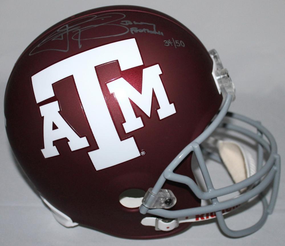 Manziel Signed Texas A&M Full-Size Helmet Inscribed