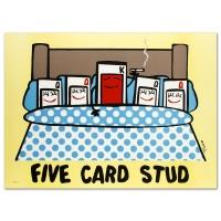 "Todd Goldman Signed LE ""Five Card Stud"" 30x22 Lithograph (PA LOA) at PristineAuction.com"