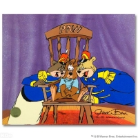 "Chuck Jones Signed LE ""Bear For Punishment"" Sold-Out 10x12 Animation Cel at PristineAuction.com"