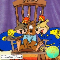 """Chuck Jones Signed LE """"Bear For Punishment"""" Sold-Out 10x12 Animation Cel at PristineAuction.com"""