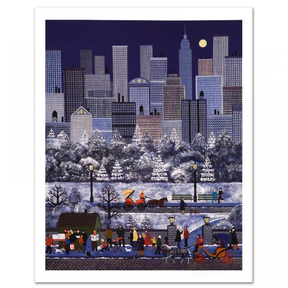 """Jane Wooster Scott Signed """"New York, New York"""" Limited Edition 18x24 Lithograph (PA LOA) at PristineAuction.com"""