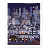 """Jane Wooster Scott Signed """"New York, New York"""" Limited Edition 18x24 Lithograph"""