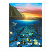 "Wyland Signed ""Kiss for the Sea"" Limited Edition 30x40 Giclee on Canvas at PristineAuction.com"