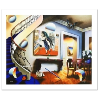 "Ferjo Signed ""Dining with Chaggall"" Limited Edition 30"" x 24"" Giclee on Canvas"