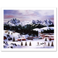 """Jane Wooster Scott Signed """"Sawtooth Mountain Splendor"""" Limited Edition 21x27 Lithograph at PristineAuction.com"""