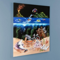 "Michael Godard Signed ""Sand Bar 2"" Limited Edition Hand-Embellished 28x35 Giclee on Canvas at PristineAuction.com"