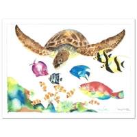 "Wyland Signed ""Something Fishee"" Limited Edition 41x29 Giclee on Canvas at PristineAuction.com"