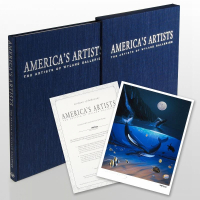"""""""America's Artists: The Artists of Wyland Galleries"""" Limited Edition 10x13 Collector's Fine Art Book by Artist Wyland with Multiple Artists Signatures Including Wyland, James Coleman, Guy Harvey & (11) Others (Wyland COA) at PristineAuction.com"""