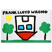 """Todd Goldman Signed """"Frank Lloyd Wrong"""" Limited Edition 27x18 Lithograph"""