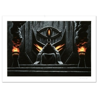 """Greg Hildebrandt Signed """"Sauron The Dark Lord"""" Limited Edition 34x23 Giclee at PristineAuction.com"""