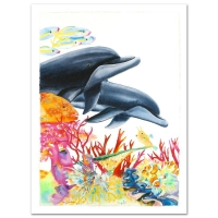 "Wyland Signed ""Sea of Color"" Limited Edition 29x41 Giclee on Canvas at PristineAuction.com"