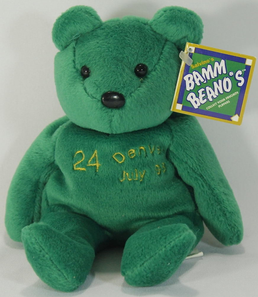 34027a8ed76 Ken Griffey Jr. Signed Salvino Beanie Bear (PA LOA) at PristineAuction.com