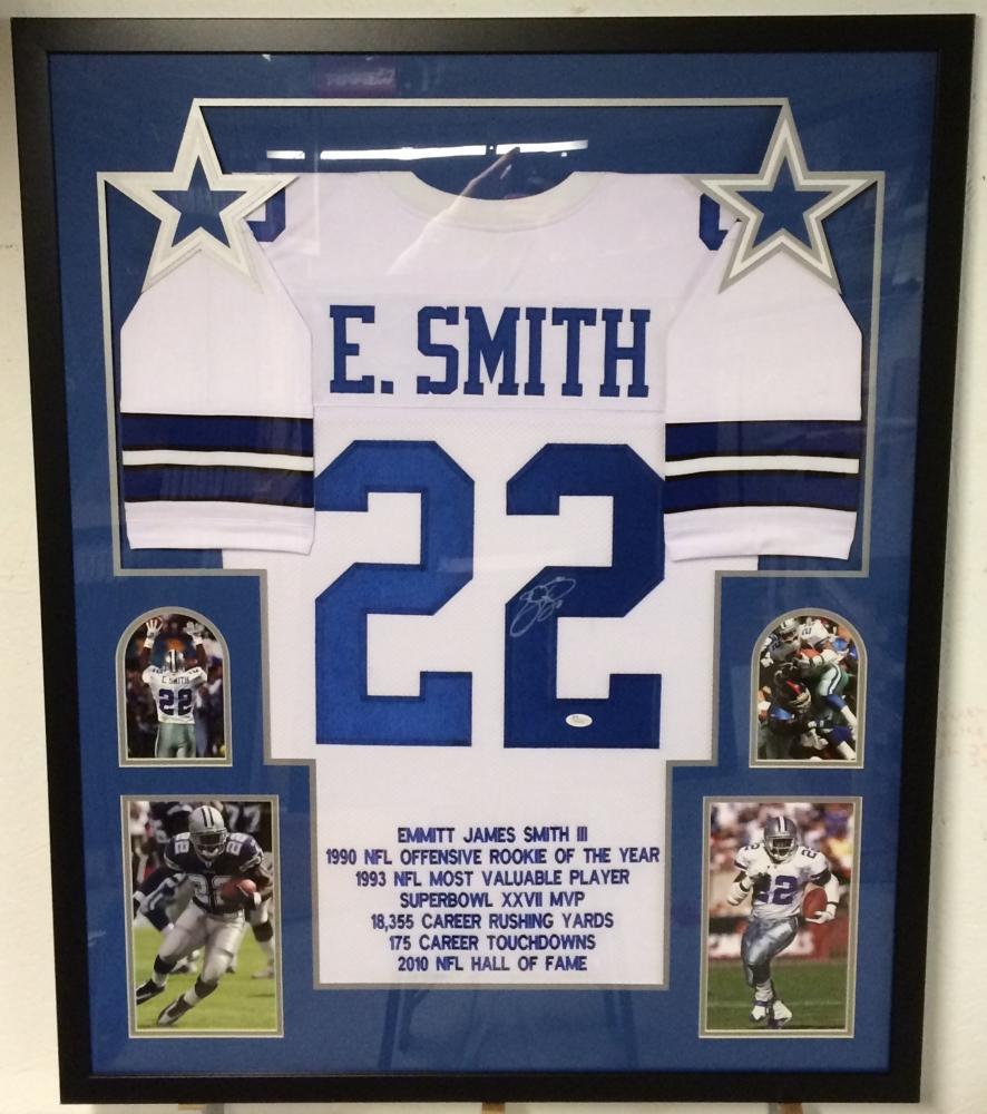 32e4469cea2 Emmitt Smith Signed Cowboys 35