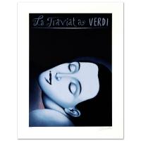 "Rafal Olbinski Signed ""La Traviata I"" LE 18x24 Lithograph at PristineAuction.com"