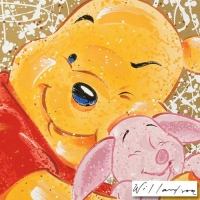 """David Willardson Signed """"Very Important Piglet"""" Limited Edition 16x21 Serigraph (PA LOA) at PristineAuction.com"""