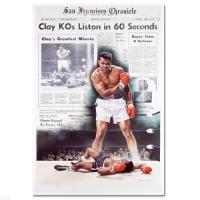 "Muhammad Ali ""Clay KOs Liston"" 25x37 Lithograph"