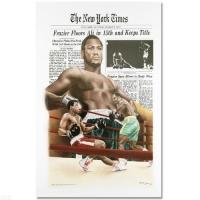 "Heavyweight Champ Muhammad Ali ""Frazier Floors Ali"" 26x36 Fine Art Poster"