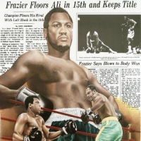 "Heavyweight Champ Muhammad Ali ""Frazier Floors Ali"" 26x36 Fine Art Poster at PristineAuction.com"