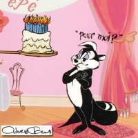 """Chuck Jones Signed """"Pepe's 50th Birthday"""" Sold Out LE 10x25 Animation Cel with Hand Painted Color at PristineAuction.com"""