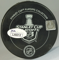 Robyn Regehr Signed 2014 Stanley Cup Finals Hockey Puck (JSA COA) at PristineAuction.com