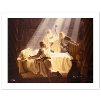 "Greg Hildebrandt Signed The Brothers Hildebrandt ""The Healing Of Eowyn"" Limited Edition 28x21 Giclee on Canvas at PristineAuction.com"
