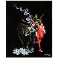 """Michael Godard Signed """"Gangster Love"""" LE 42x53 Hand-Embellished Giclee on Canvas"""