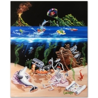 """Michael Godard Signed """"Sand Bar 2"""" Limited Edition 42x53 Hand-Embellished Giclee on Canvas"""