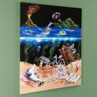 "Michael Godard Signed ""Sand Bar 2"" Limited Edition 42x53 Hand-Embellished Giclee on Canvas at PristineAuction.com"