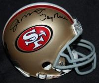 Jerry Rice & Joe Montana Signed 49ers Mini-Helmet (Mounted ...  Mounted
