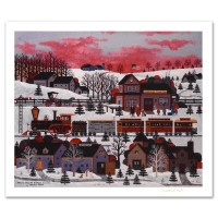 """Jane Wooster Scott Signed """"Whistle Stop at Ashfield Junction"""" Limited Edition 23x19 Lithograph at PristineAuction.com"""