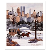 "Jane Wooster Scott Signed ""Manhattan Wonderland"" Limited Edition 12x14 Lithograph at PristineAuction.com"