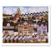 """Jane Wooster Scott Signed """"Celebration of America"""" Limited Edition 19x22 Lithograph at PristineAuction.com"""