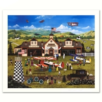 "Jane Wooster Scott Signed ""Franklin Field's First Annual Air Fair"" Limited Edition 16x13 Lithograph at PristineAuction.com"
