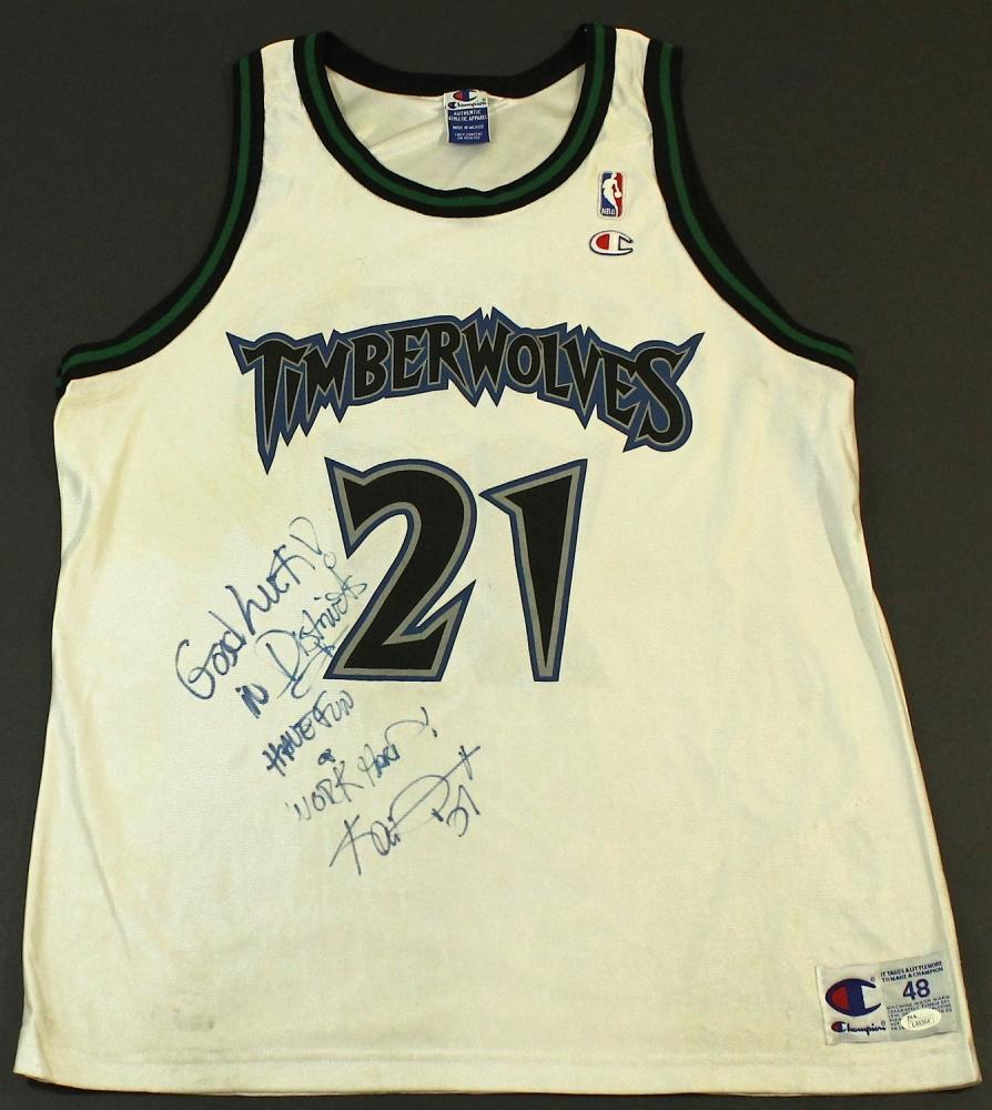 2f51d80ba Kevin Garnett Signed Timberwolves Jersey Inscribed