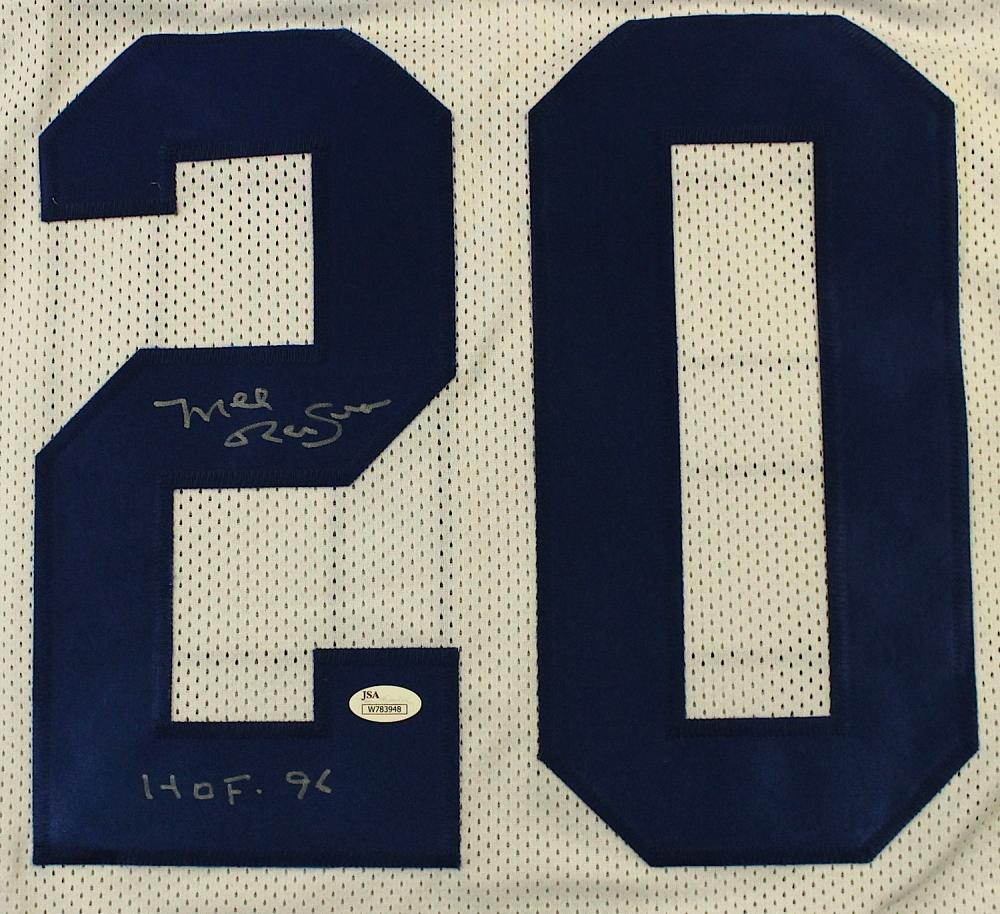 Mel Renfro Signed Cowboys Carreer Highlight Stat Jersey Inscribed