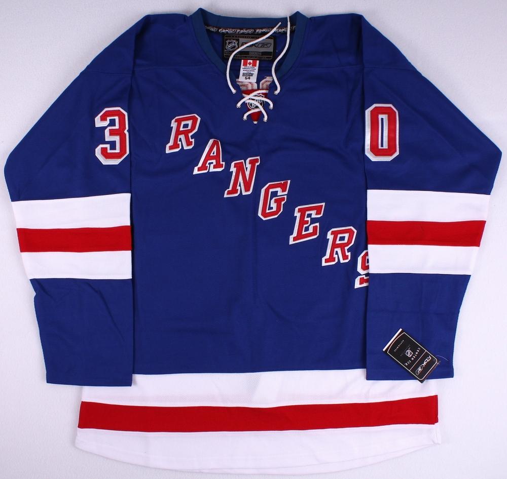 henrik lundqvist signed york rangers herie jersey