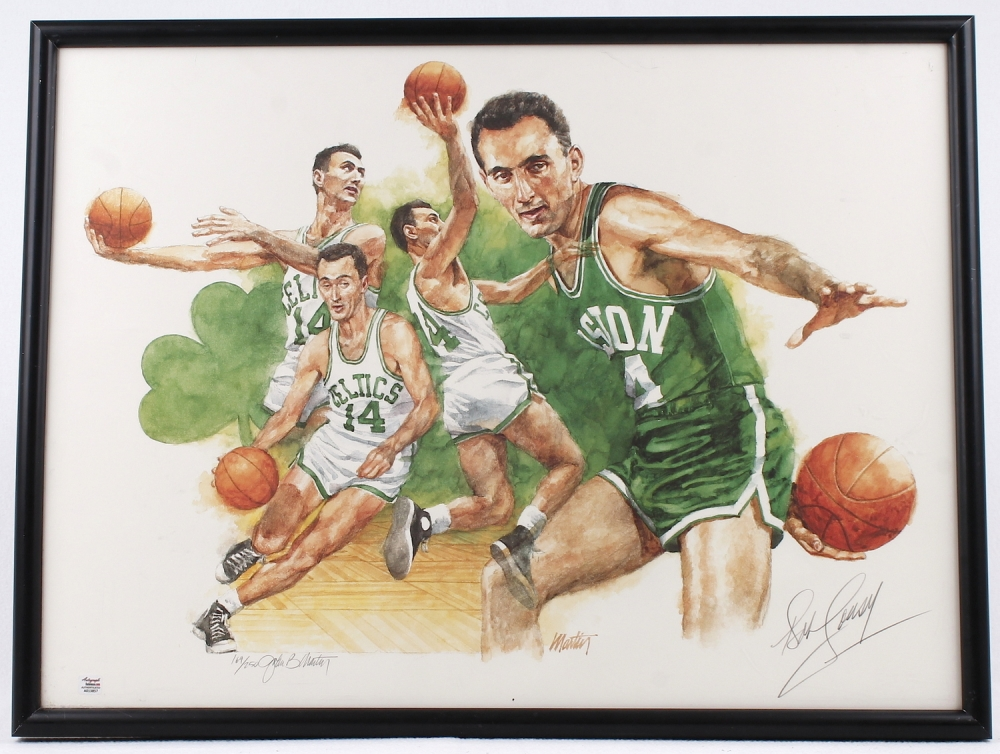 I lived in Bob Cousy Signed Celtics LE 18x24 Custom Framed Lithograph ( Autograph Reference) at PristineAuction. 02d1a8dc9