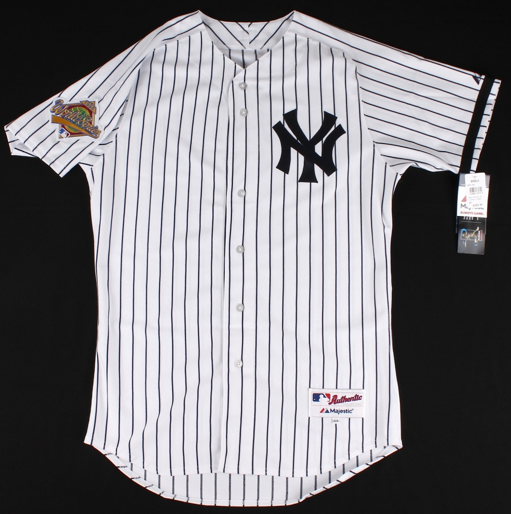 6373e88fe2c Derek Jeter Signed Yankees Authentic Majestic Jersey with 1996 World Series  Patch (MLB   Steiner