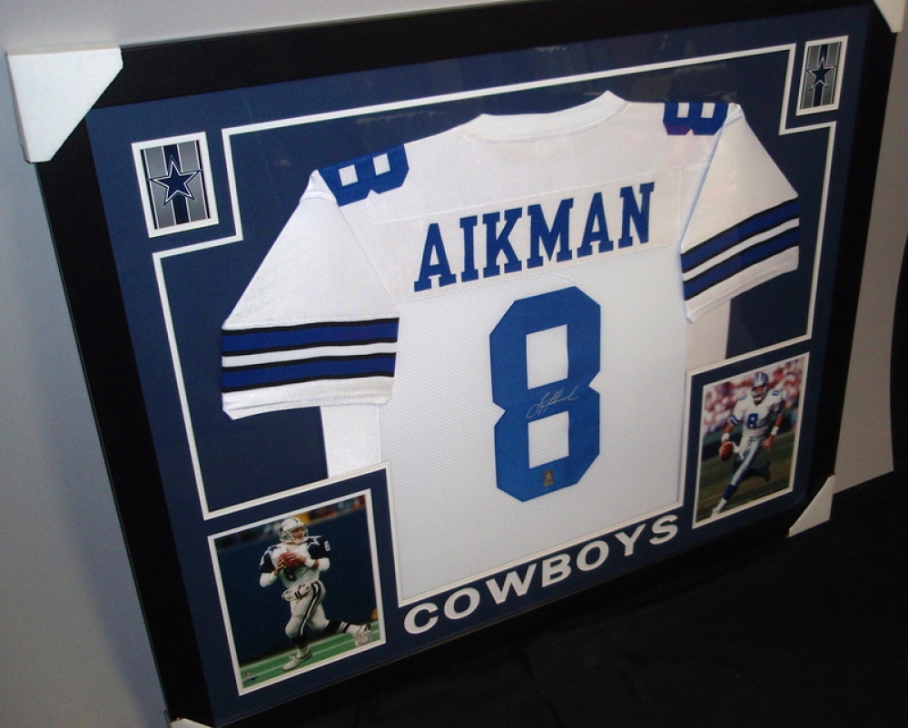 promo code 5484f ff3a3 troy aikman autographed jersey