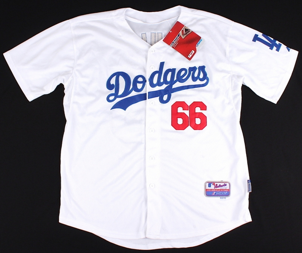 Yasiel Puig Dodgers On-Field Style Majestic Jersey (Size 50) at  PristineAuction. b4229ee6d65