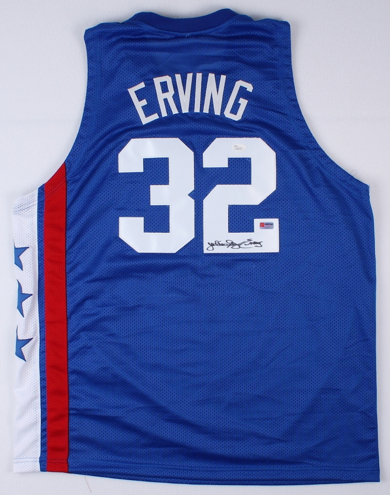 def55c66f5d Julius Erving Signed New York Nets Throwback Jersey Inscribed