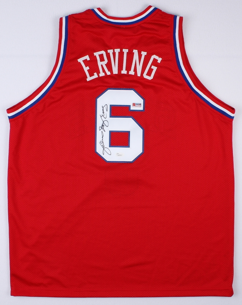 c33f4337770 Julius Erving Signed Sixers Throwback Jersey Inscribed