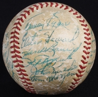 1956 Yankees World Series Champions Baseball Team Signed by (23) with Mickey Mantle, Yogi Berra, Billy Martin, Moose Skowron, Elston Howard, Whitey Ford (PSA LOA) at PristineAuction.com