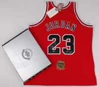 """Michael Jordan Signed Limited Edition Authentic Mitchell & Ness """"Hall of Fame"""" Bulls Jersey Inscribed """"2009 HOF"""" (UDA COA) at PristineAuction.com"""
