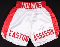 "Larry Holmes Signed Custom ""Easton Assassin"" Boxing Trunks (Schwartz COA) at PristineAuction.com"