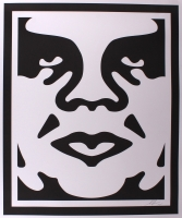"Shepard Fairey ""Obey"" Andre the Giant Signed 25x30 Lithograph at PristineAuction.com"